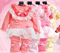 2013 New Kids Clothes Set For Baby Girl 2Pcs Coat  Pants Autumn-Summer Children Clothing Sets Girls Fashion