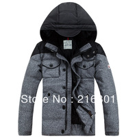 Woolen cloth casual male short design down coat thickening thermal
