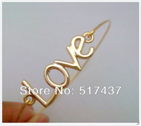 Free Shipping !!! High Fashion Jewelry Gold Filled Bracelet Bangles Love Bracelet