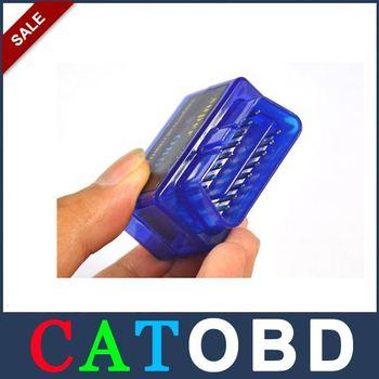 (15 pieces/lot) Super Mini Bluetooth OBD 2 II  elm 327 ELM327 Scanner Read Diagnostic Trouble Codes