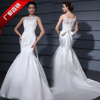 wholesale sweetheart Satin fabric fish tail train designer top wedding dress  formal dress bridal lace wedding dress