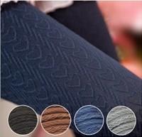 Four Colors Heart Jacquard Velvet Liquid Leggings as Pants for Women Free Shipping
