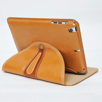 Newest Genuine Leather Smart Cover Case for iPad 360 Rotation Slim Business Stand Real Leahter Case for iPad 4 iPad 3 iPad 2