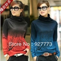 New Arrival women's sweater female sweater loose branches basic cashmere sweater shirt ,plus size