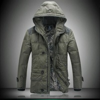 2013 New Style Male Medium-Long Down Coat FOr Men With Hoodis Keep Warm In the WInter Nextpadded jacket