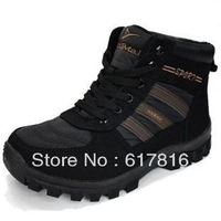 NEW 40-44 Male snow shoes snow boots warm cotton-padded shoes thickening wool winter boots outdoor hiking boots