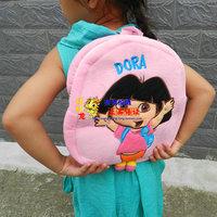 Free Shipping Dora baby Backpack, The Explorer Mr Face Plush Children SchoolBag Purple Toddler