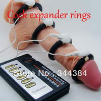 Cock expander rings,with 4 different size rings,Male electric enlargement device,Male Enlargement,penis enlargement