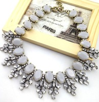 Spot Sales!!Big Brand Crystal Leaves Resin Choker Necklace Chunky Statement Necklace Women Free Shipping 2013