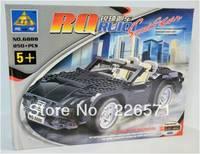 Kazi Building Blocks, 6888 Car, Yakuchinone Roadster 1.2, Educational DIY Construction Self-locking Bricks Toys for Children