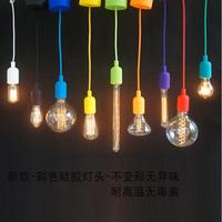 Seven multicolour pendant night market pendant light plastic silica gel kit single pendant light multicolour zero accessories