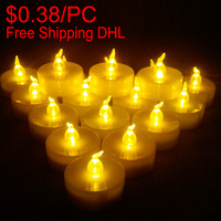 Wholesale for resale 18pcs/box good package led tea light candles wedding christmas halloween birthday decoration candles bulk