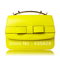 2013  candy color small fresh genuine leather female bags fashion preppy style cowhide women's handbag