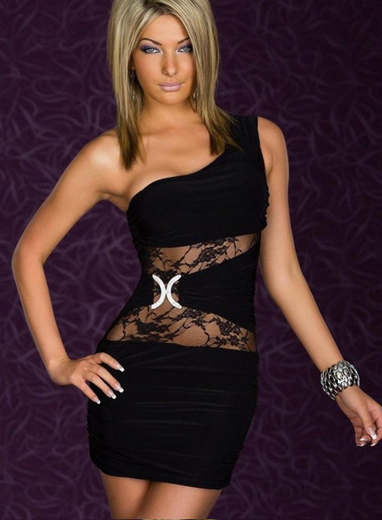 Model Black Clubwear Plus Size Club Dresses For Women