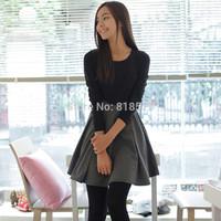 Brand new desigual spring 2014 women's long sleeve slim show thin knit one-piece dress,fashion women clothing wholesale,S-XXL