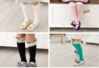 Free Shipping Solid candy color lace children socks,princess baby sock ,multi color baby sock