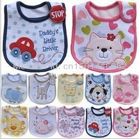 Free shpping New cotton carter baby animal bibs-3 layers waterproof bibs+ many models available Wholesale Price TB003