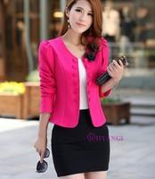 4 color Plus Size WOMAN SUIT BLAZER FOLDABLE BRAND JACKET coat fashion blazer feminino Double-breasted cardigan chaquetas mujer