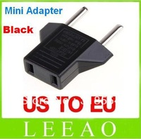 5000pcs/lot # Universal USA US to EU Euro Plug Power Converter Travel Charger Adapter Round Pin Free Shipping