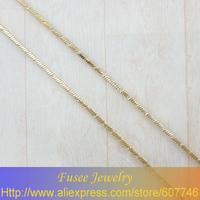IHZ01218 Copper 18K gold plated  chain necklace 2pcs/lot