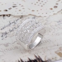 Hot Sell!Wholesale Sterling 925 silver ring,925 silver fashion jewelry ring,Vintage Exquisite Classic Stone Rings SMTR269