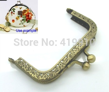 Free Shipping-2PC Metal Frame Kiss Clasp For Purse Bag Antique Bronze 8.7x5.8cm(Can Open Size:10.8x8.8cm) M01199