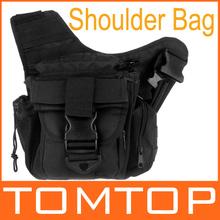 outdoor molle di spalla tattico della cinghia del sacchetto del sacchetto militare marsupio borsa da viaggio borse fotocamera nero(China (Mainland))