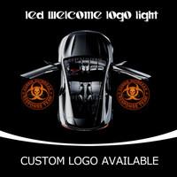 Zombie Outbreak Response Team Badge GOBO Logo Light Car Door LED Emblem Welcome Laser Projector Led Puddle Light 1519 Orange