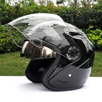 free shipping cascos para bicicleta casco moto vespa cascos para motocicletacasco moto jet with double visor yohe YH-856