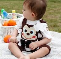Hot sale baby boy 2pcs cartoon clothing set spring-autumn new 2013,baby boy overalls long sleeve and short sleeve,bebe bodysuits