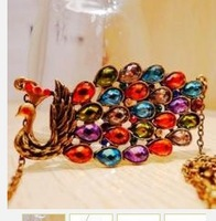 Restore ancient ways the colourful peacock Bohemia costly necklace 20 grams