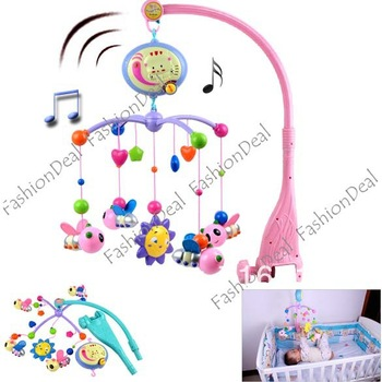 New Cute Lovely Electric Baby music toys, Baby Rattle Bed Bell Baby Toys Wholesale and retail 6473