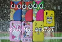 1pcs cartoon owl rabbit cat Luffy Spongebob squarepants doraemon matte Soft TPU Gel cover case for Samsung Galaxy Ace S5830