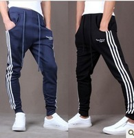 Autumn and winter male personality pants Mens Harem pants Hot Hitz Sidebar Korean Slim men feet pants hoodies pants