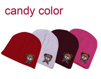 new cute bear baby cap,/kids hats/ cotton beanie infant hats/children baby hats  Skullies & Beanies wholesale free shipping