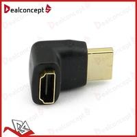 Cheap 270 Degree HDMI Adapter Right Angle Narrow Adapter 200pcs/Lot DHL Free Shipping