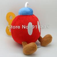 "Free Shipping Super Mario Bros Plush Doll Soft Figure 5"" RED BOB-OMB BOMB Retail"