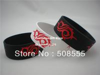 "Slipknot Wristband Concert Bracelet Tour Wrist Band New Music Merchandise Site, 1"" Wide, 2colours, 50pcs/lot, free shipping"