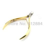 Gold Stainless Steel Manicure Toe Nail Toenail Cuticle Pedicure Clipper Plier Ingrown Scissors Nipper Cutter Nail Art Tool T313