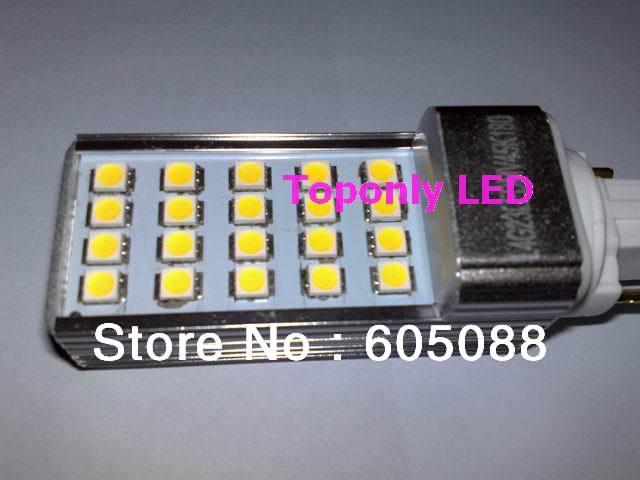 4w g23 base rotated led plug light, led pl bulb lamp,3000k 4000k 6500k white,450lm,100pcs/lot factory price wholesale promotion!(China (Mainland))