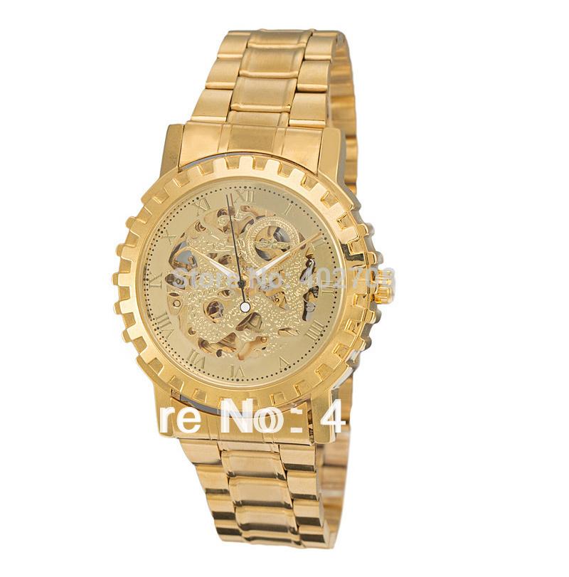 free ship winner brand name luxury gold skeleton