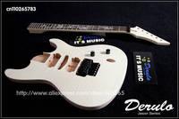 DIY Electric Guitar Kit  Set-In  Solid Mahogany Body Neck  Dragon Inlay