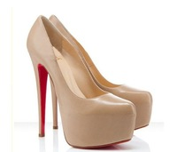 size 34-40 Hot 2013 brand fashion weddubg sexy female platform red bottom ultra high heels pumps European style