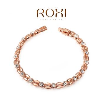 ROXI Gifts Genuine Austrian Crystals Elegant Wheat Bracelet Розовый Золото/Platinum ...