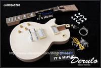 DIY Electric Left-Handed Guitar Kit  Solid Mahogany  Flamed Maple Veneer Top