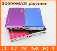Brand power bank 30000mah free shipping, LED flashlight, usb charging mobile phone computer ploymer batteries