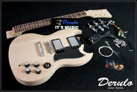 DIY Electric Guitar Kit  Set-In  Solid Mahogany  Unfinished  Luthier MX-016
