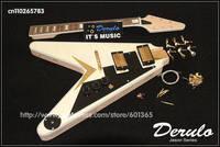 DIY Electric Guitar Kit  Solid Mahogany  6-Ply Binding  Flamed Maple Veneer