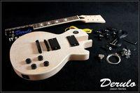 DIY Electric Guitar Kit  Set-In  Spalted Maple Veneer Top  Solid Mahogany MX-021
