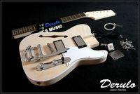 DIY Semi-Hollow Body Electric Guitar Kit  Bolt-On  Mahogany Vibrato Tailpiece MX-023